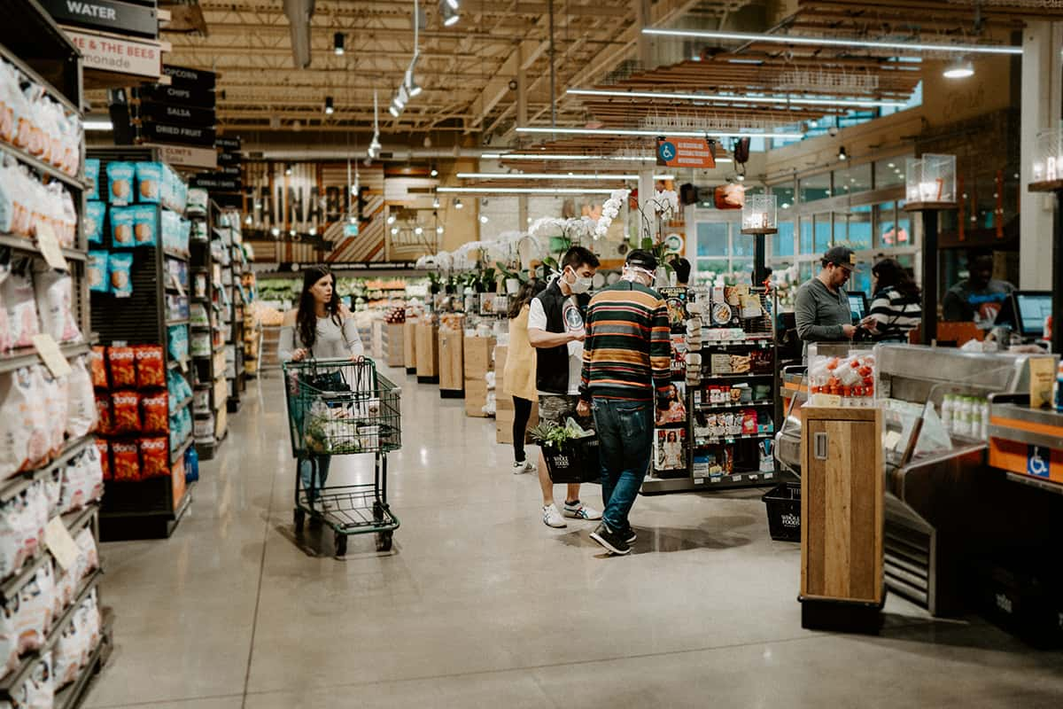 whole foods store inside