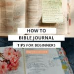 bible journals open on table