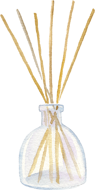 reed diffuser illustration