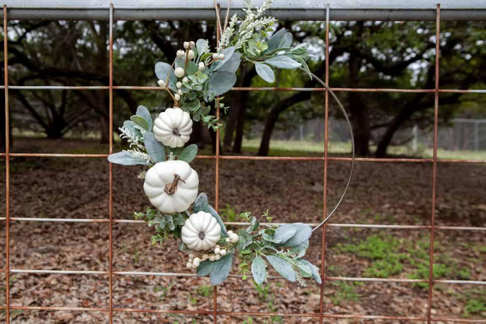 Horizontal - Modern Farmhouse Fall Wreath