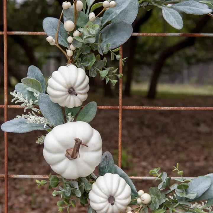 How to Make a Modern Farmhouse Fall Wreath