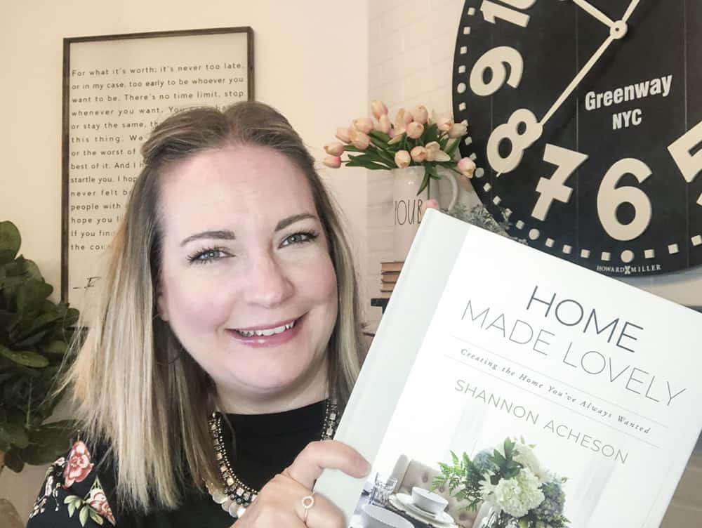 Shannon with Home Made Lovely Book