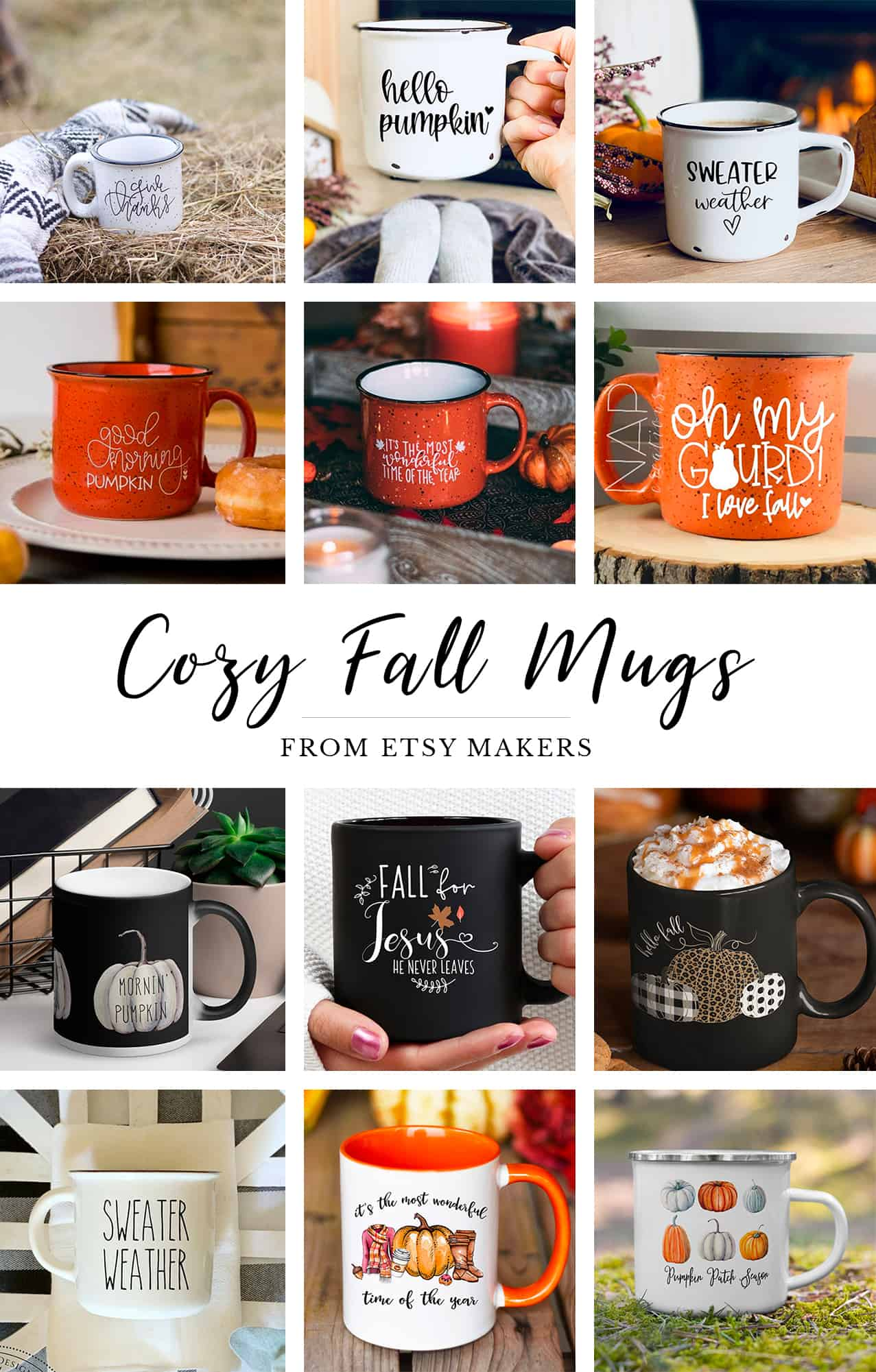 12 of the coziest fall mugs you'll love to curl up with!