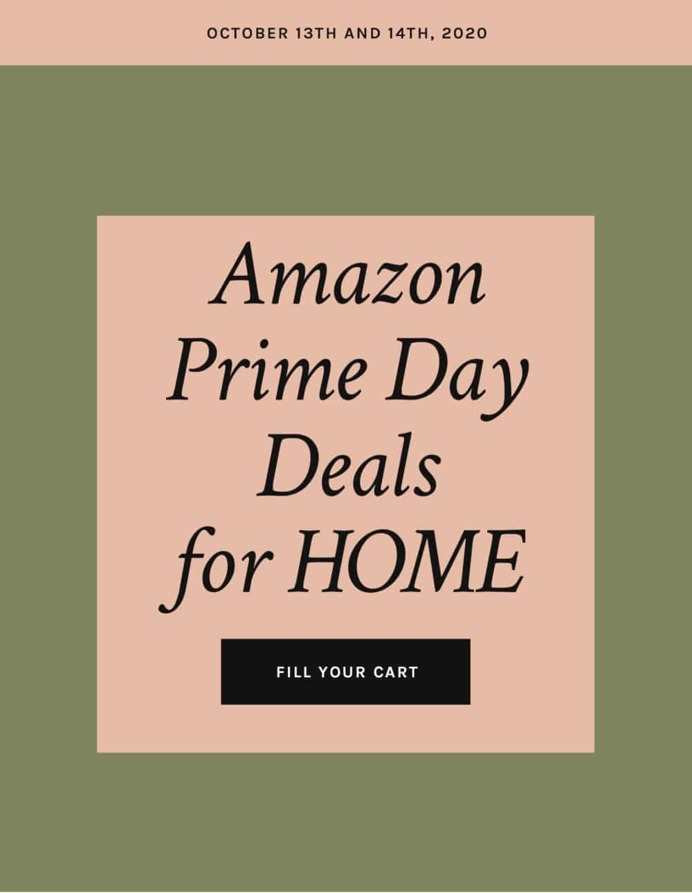 Amazon Prime Day Deals for Home 2020