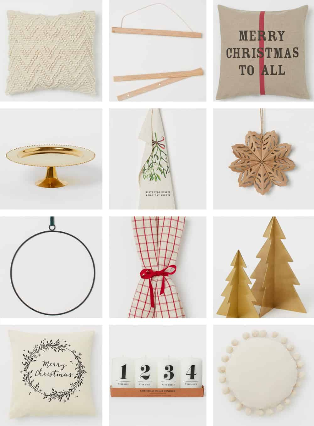 Christmas decor from H&M