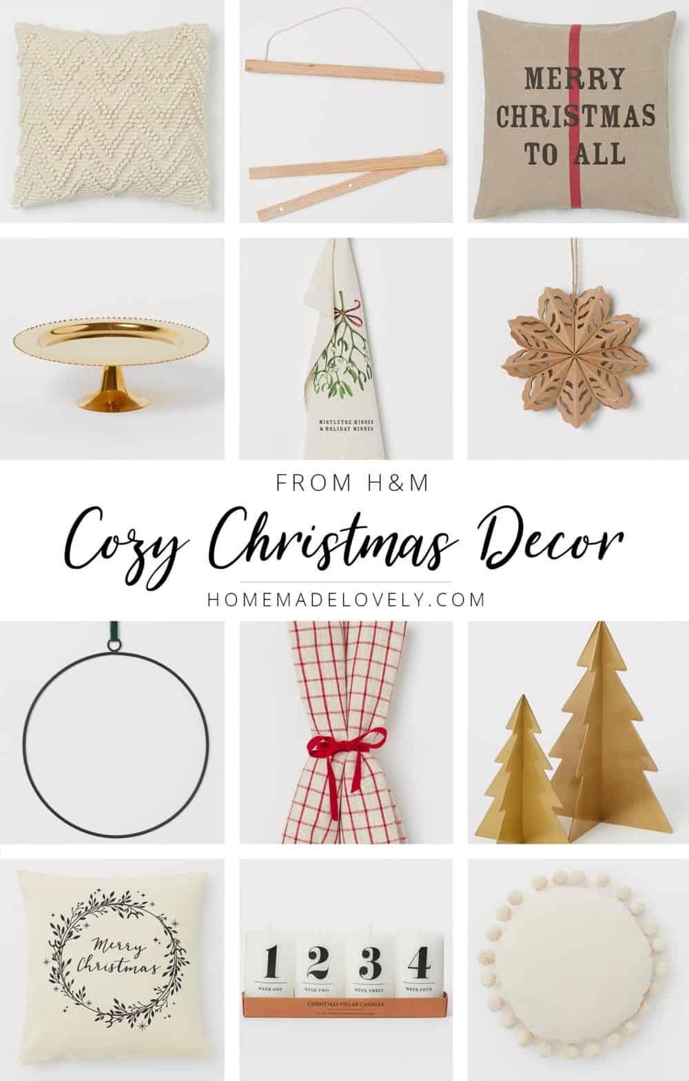 Cozy Christmas Decor from H&M - Pretty Holiday Home Decor