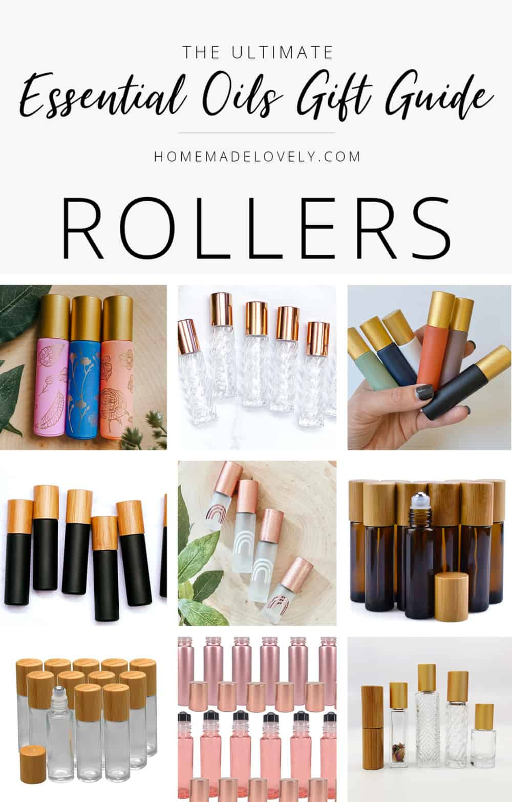 essential oil gift guide roller bottles