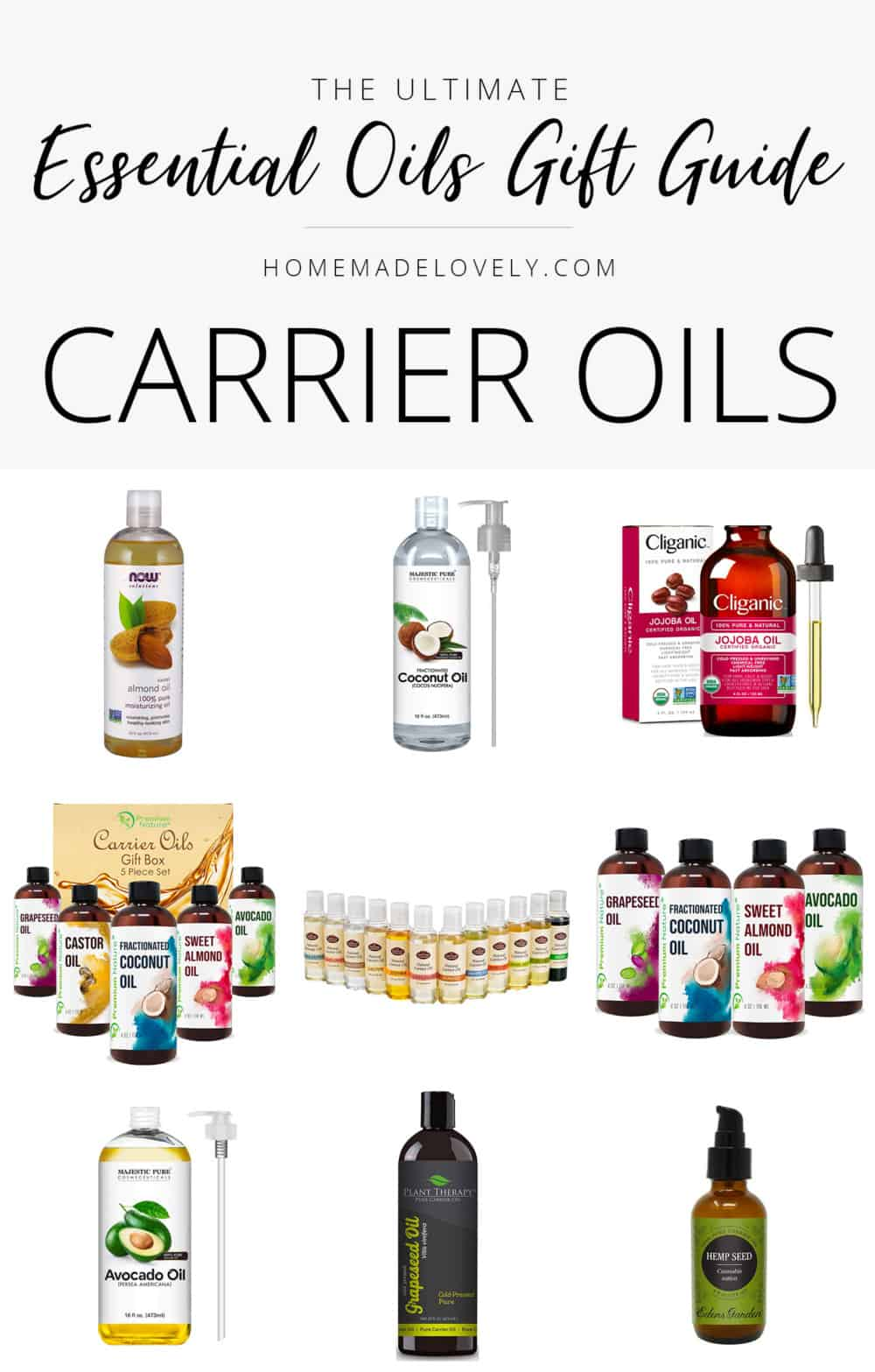 essential oils gift guide carrier oils