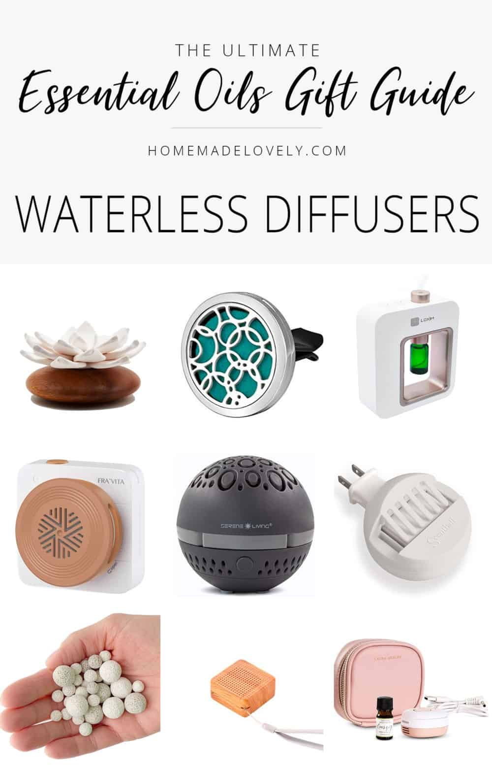 essential oils gift guide waterless diffusers