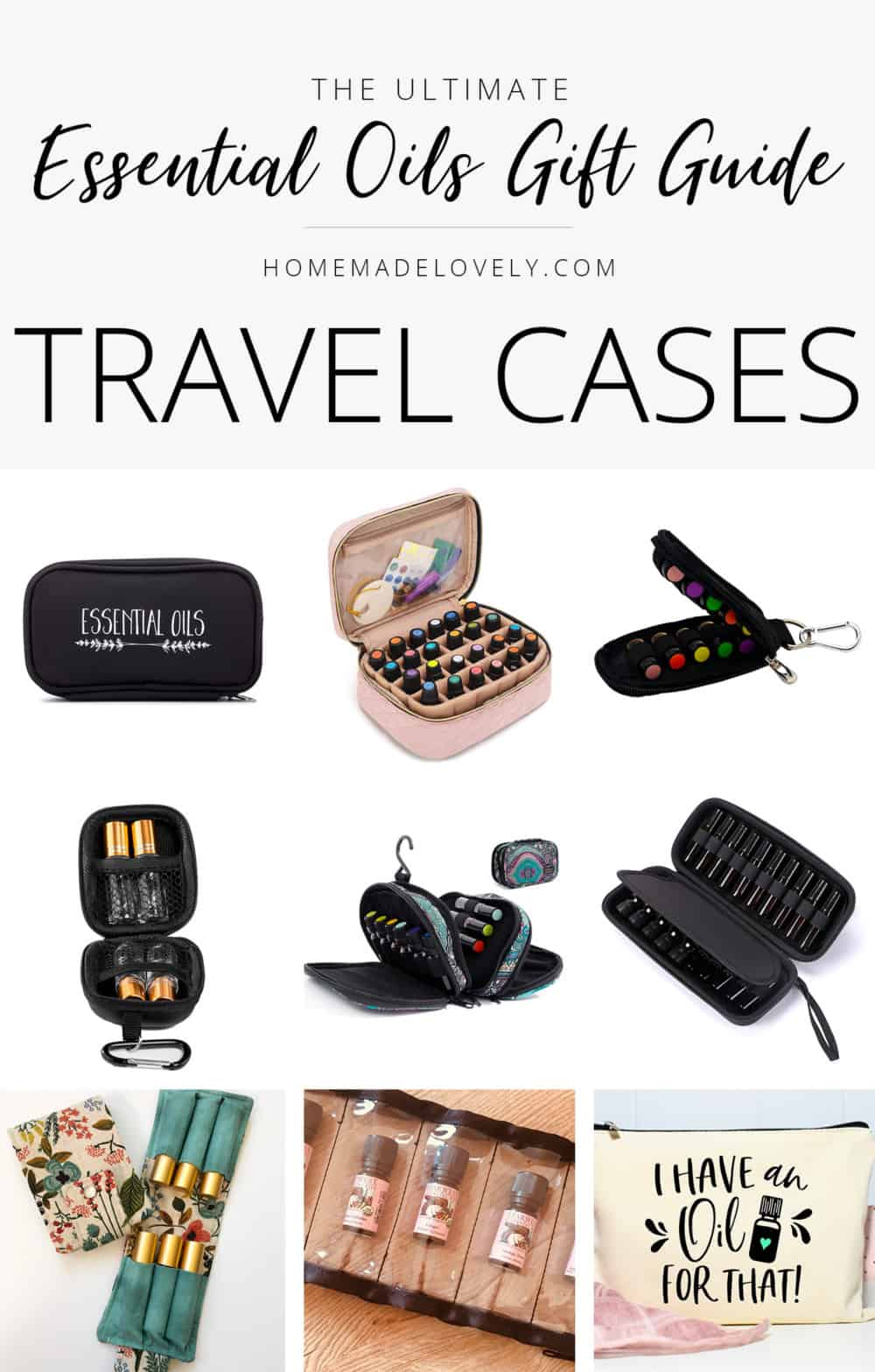 essential oil gift guide travel cases
