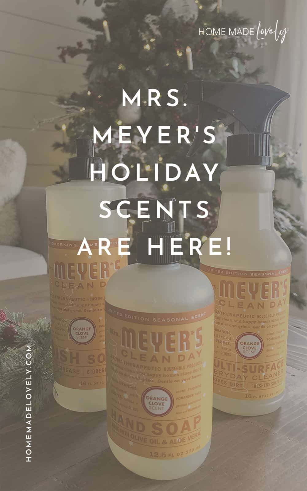 Mrs Meyers holiday scents 2020