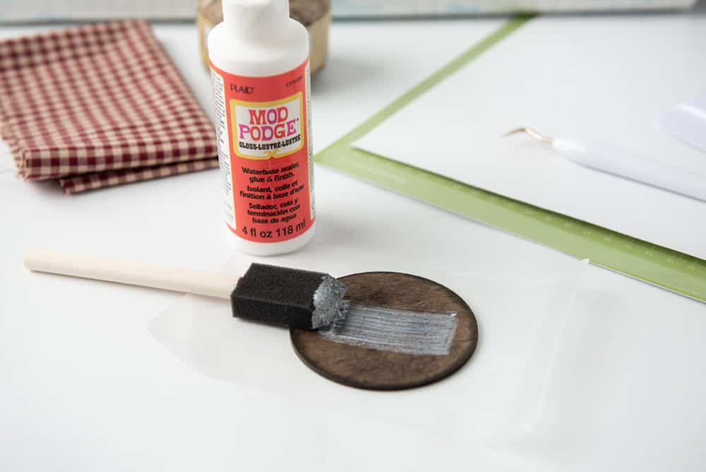 cover stain in mod podge