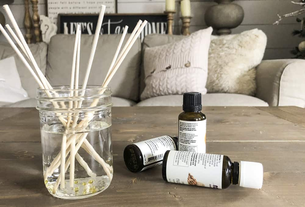 make your own reed diffuser with essential oils
