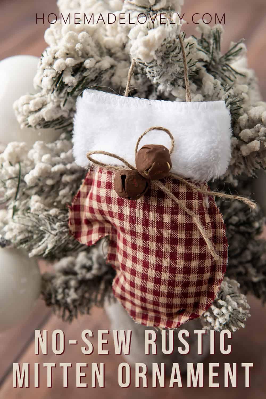 no-sew rustic mitten ornament pin 1 copy