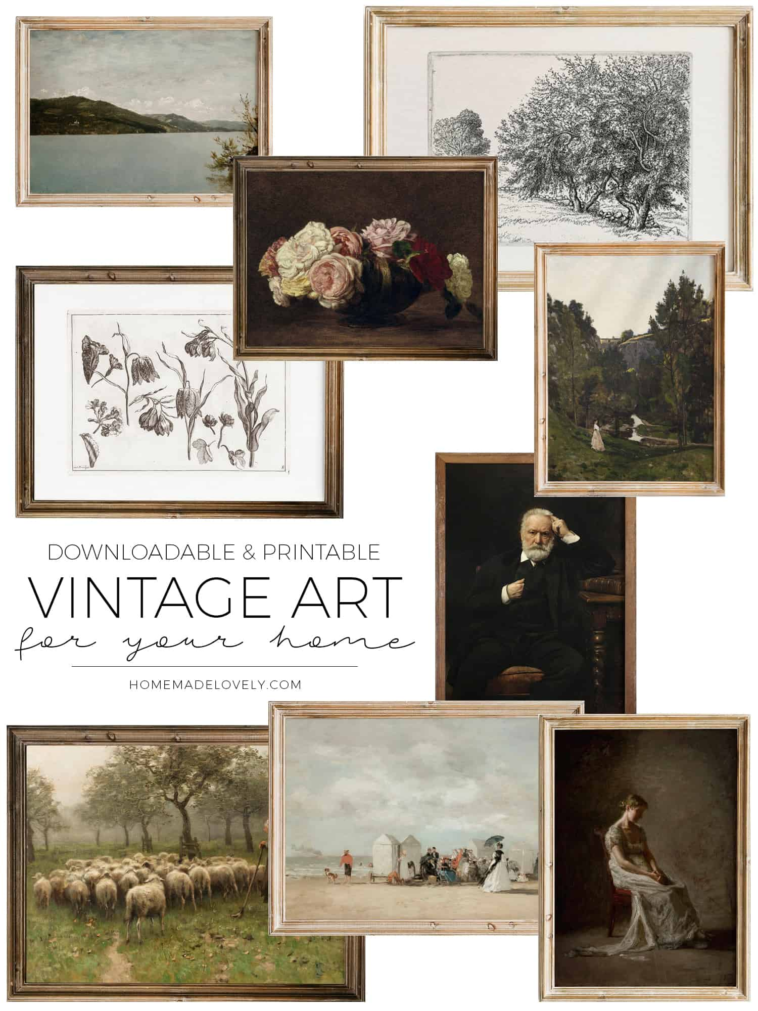 Downloadable Vintage Art for Your Home