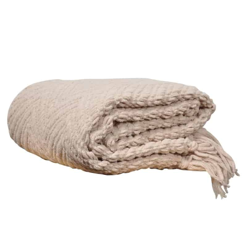 cream colored soft throw blanket