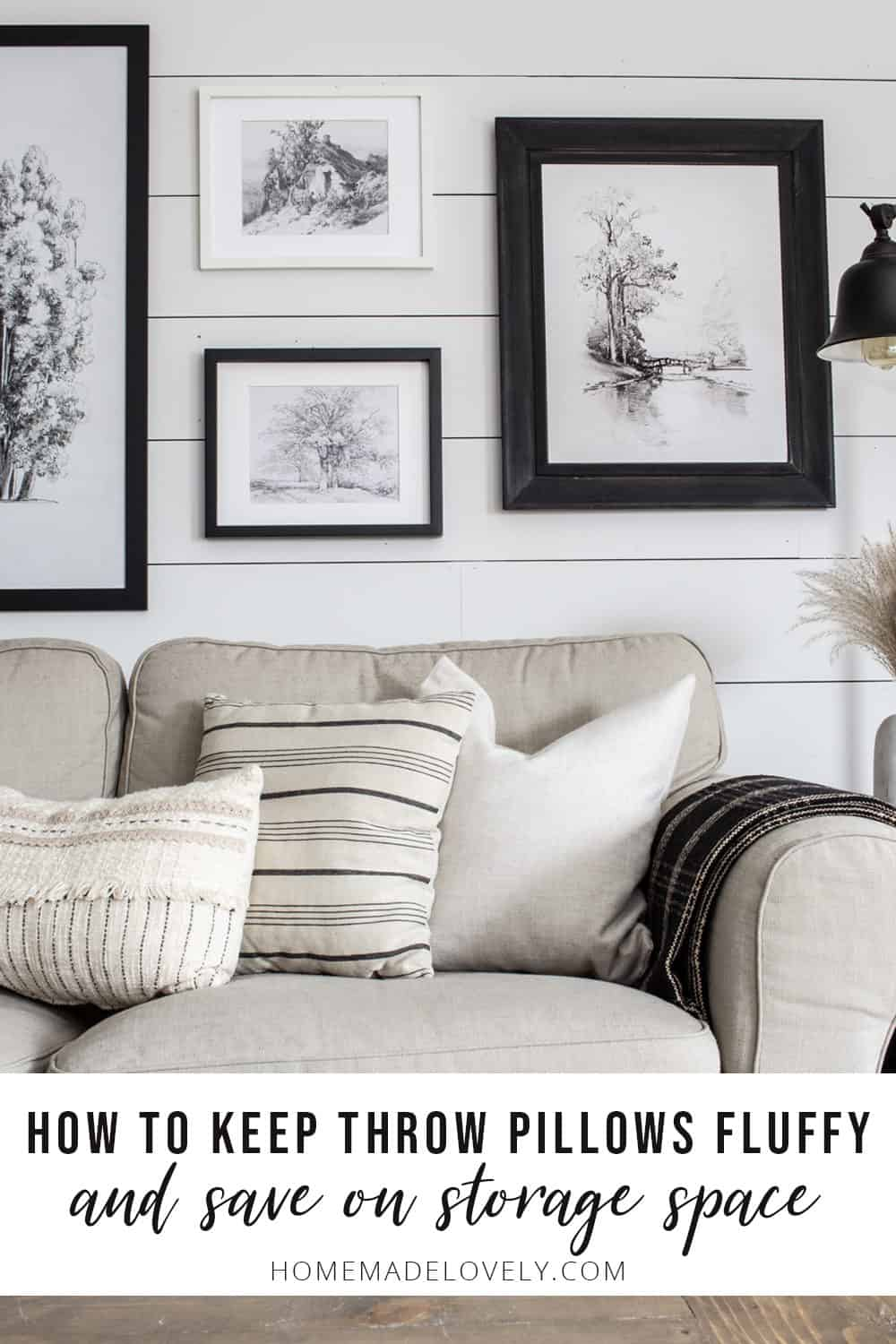 how to keep throw pillows fluffy and save storage space
