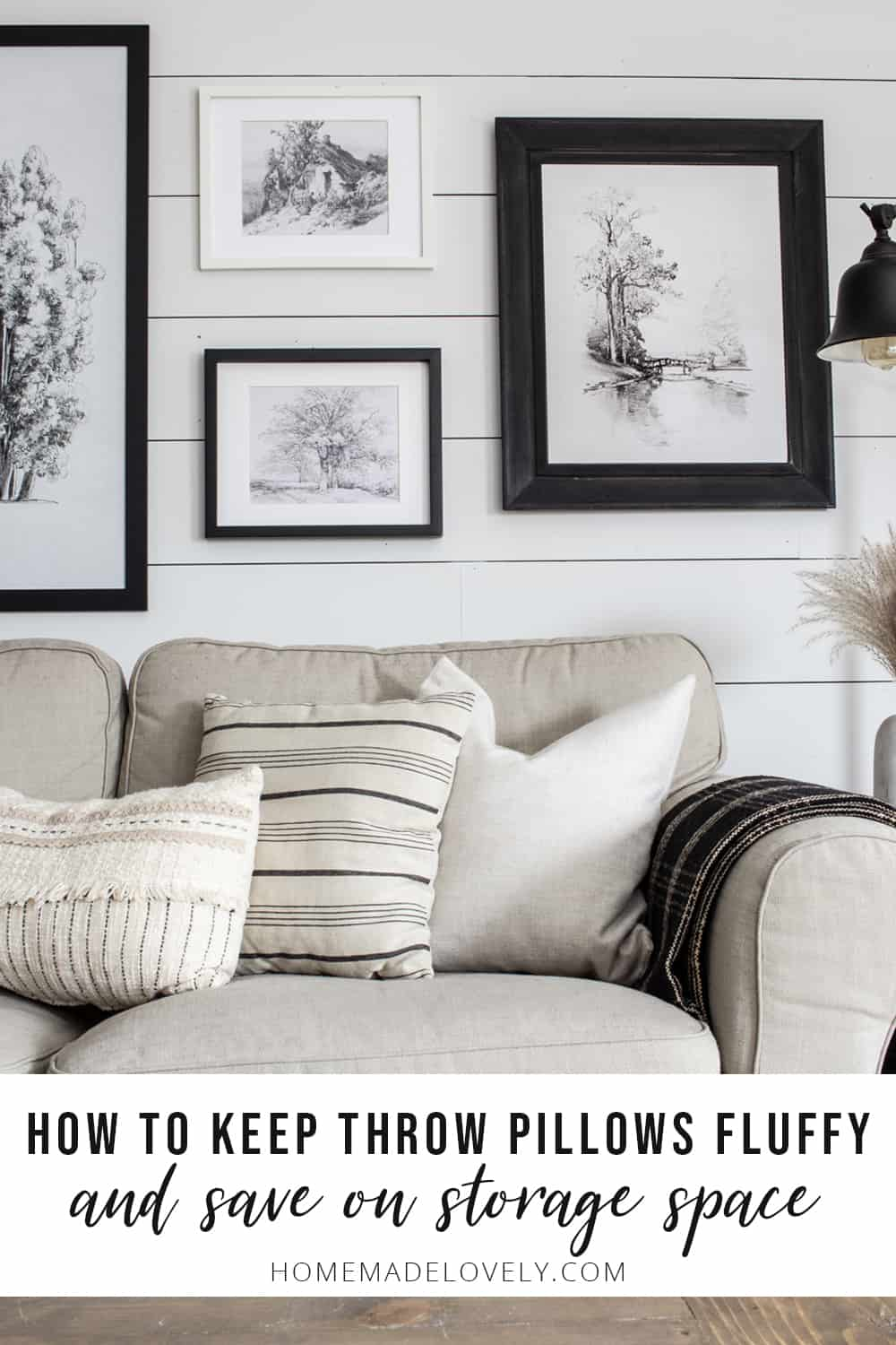 How to Keep Throw Pillows Fluffy- Even if You Have Kids, Pets & a Hubby