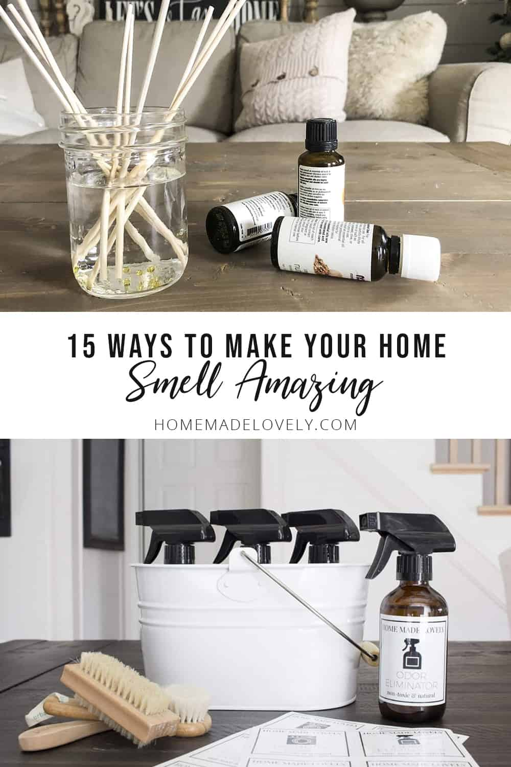 make your home smell amazing reed diffuser and odor eliminator