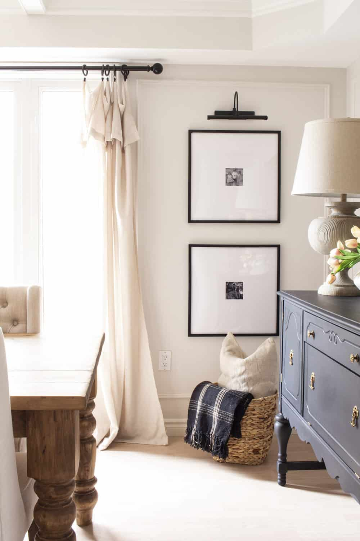 Gallery Frames in Dining Room Black Buffet