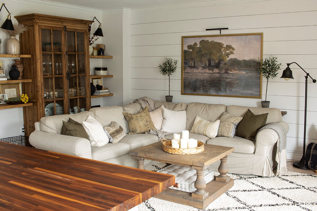 Neutral Living Room from Kitchen