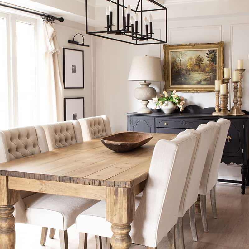 earthy neutral dining room