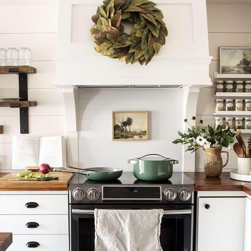earthy neutral kitchen