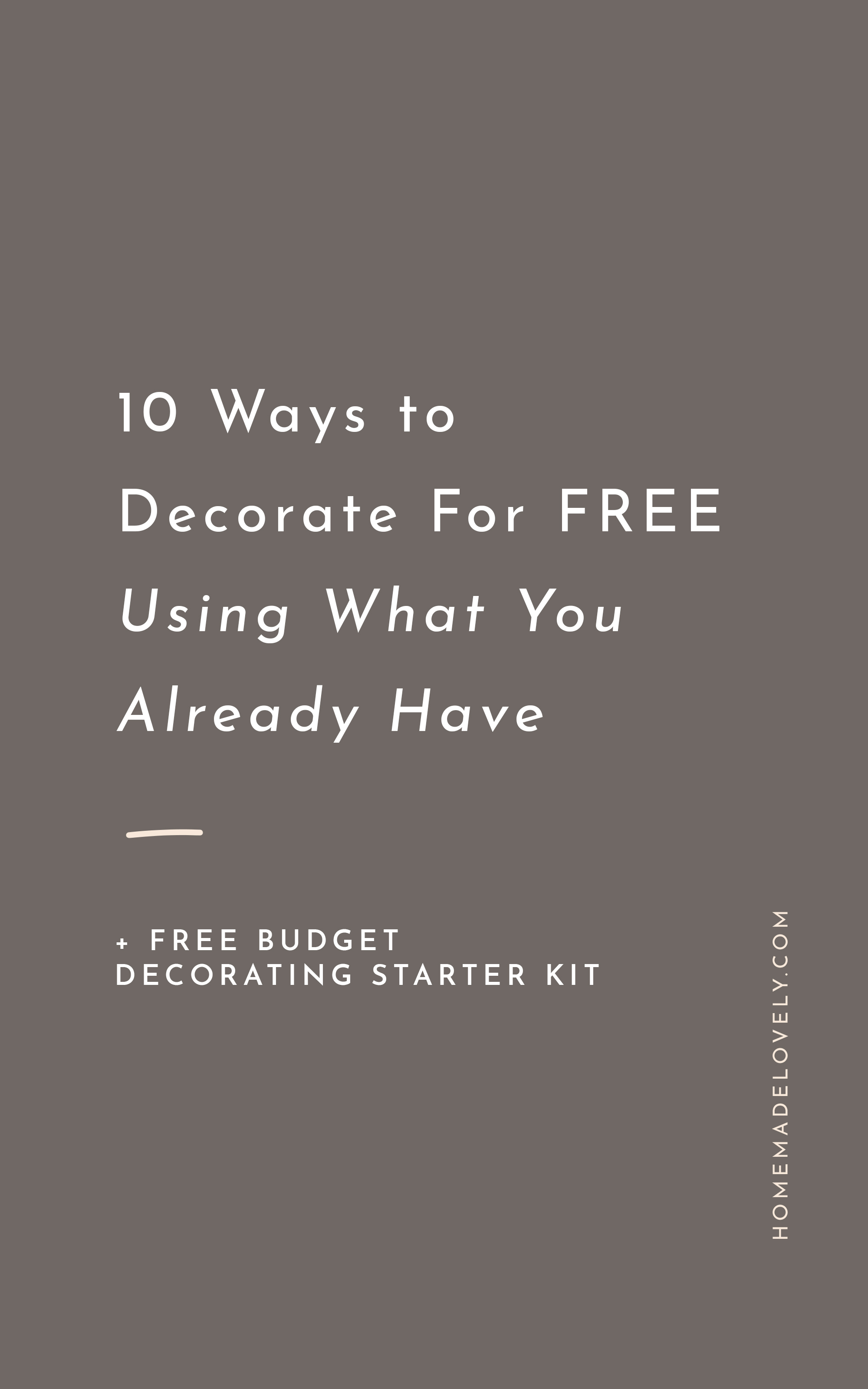 10 ways to decorate for free text over gray background