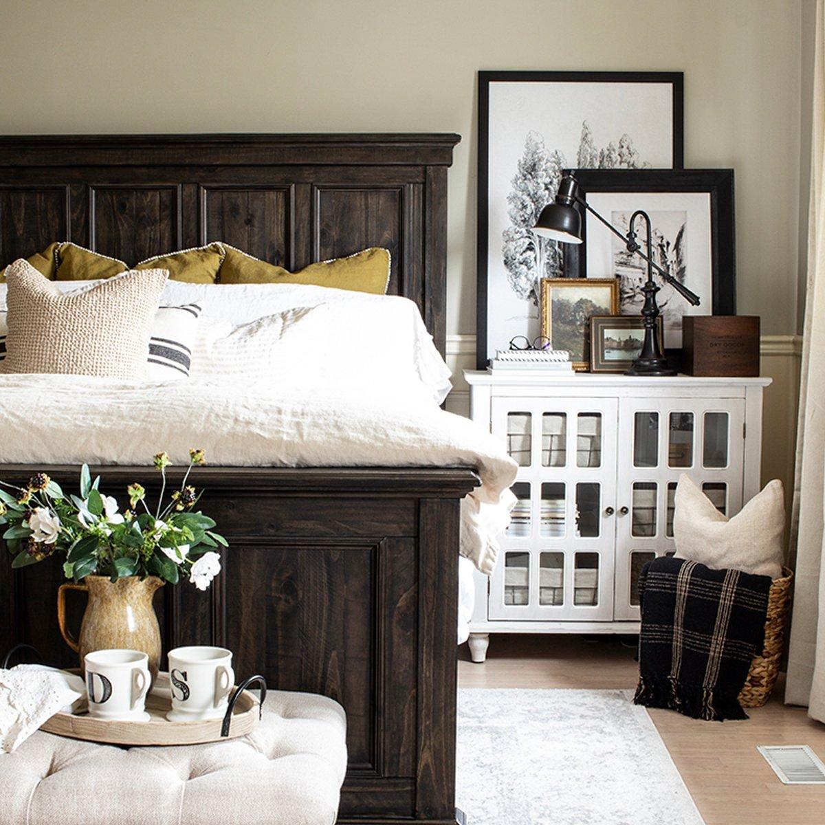 earthy master bedroom sq
