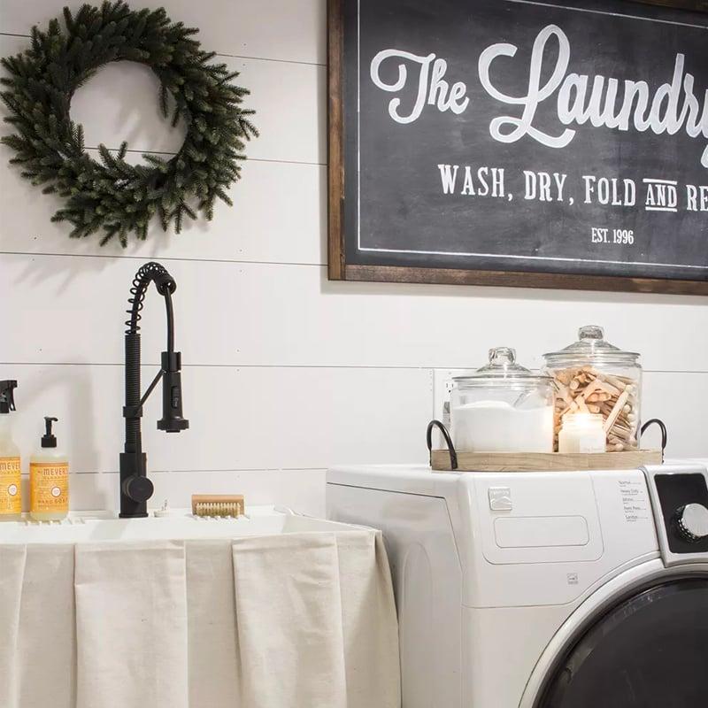 farmhouse style laundry room