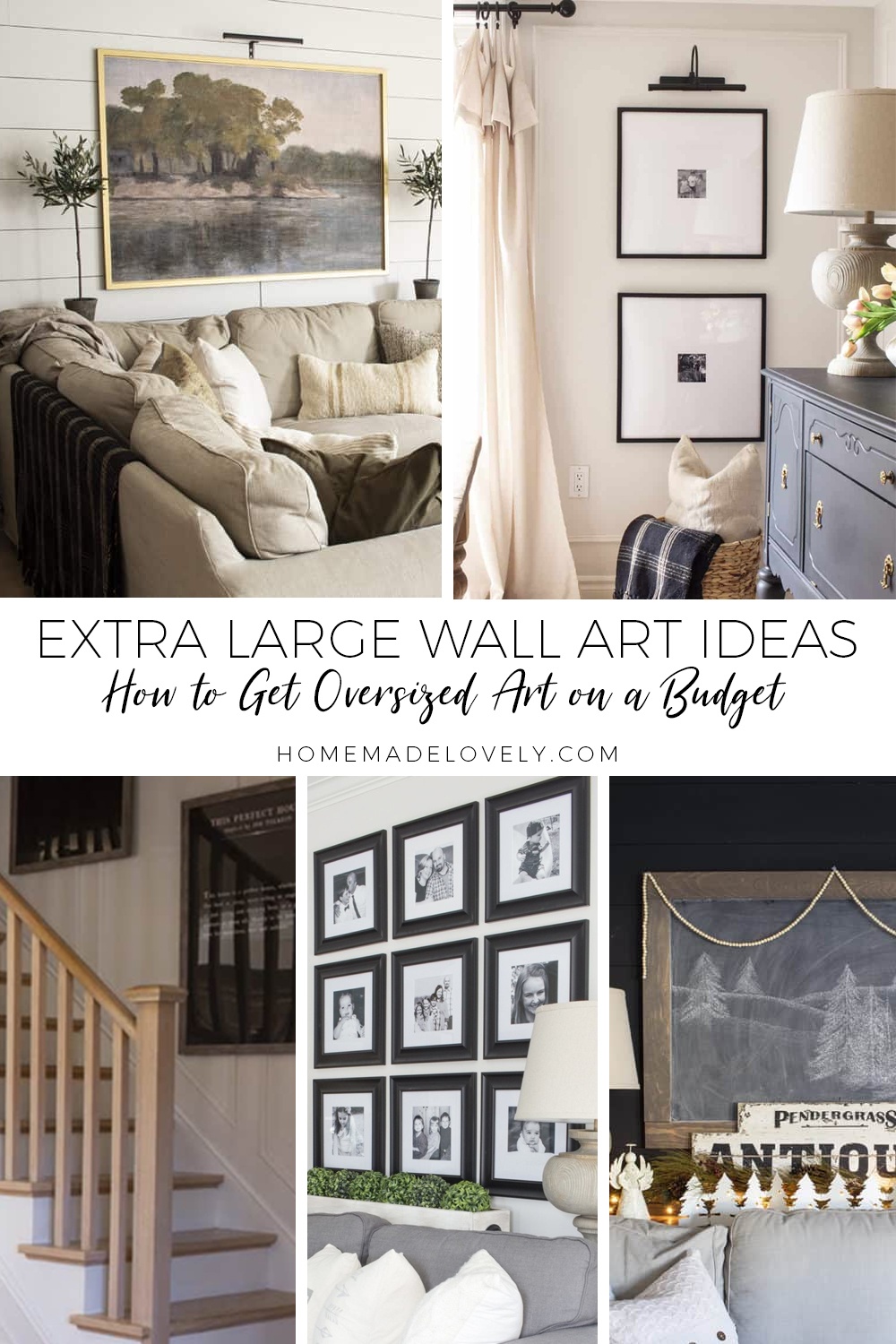 extra large wall art ideas pin with multiple images of large art