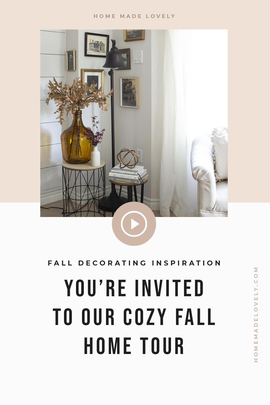 Cozy Fall Home Tour pin 1