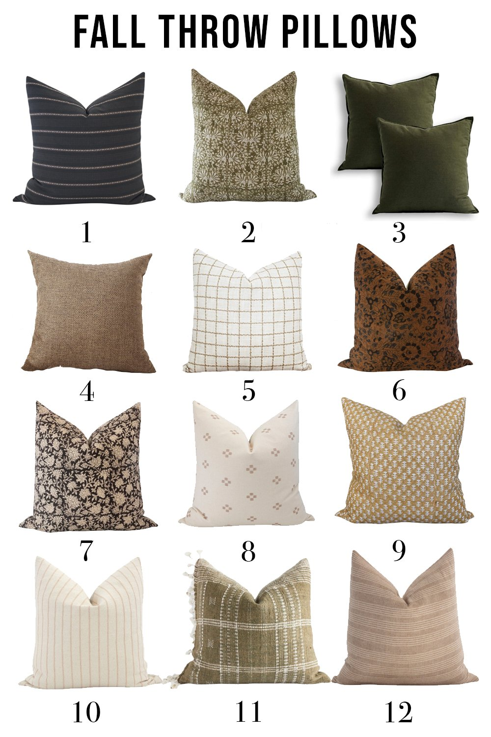 Fall Throw Pillows and Blankets Roundup