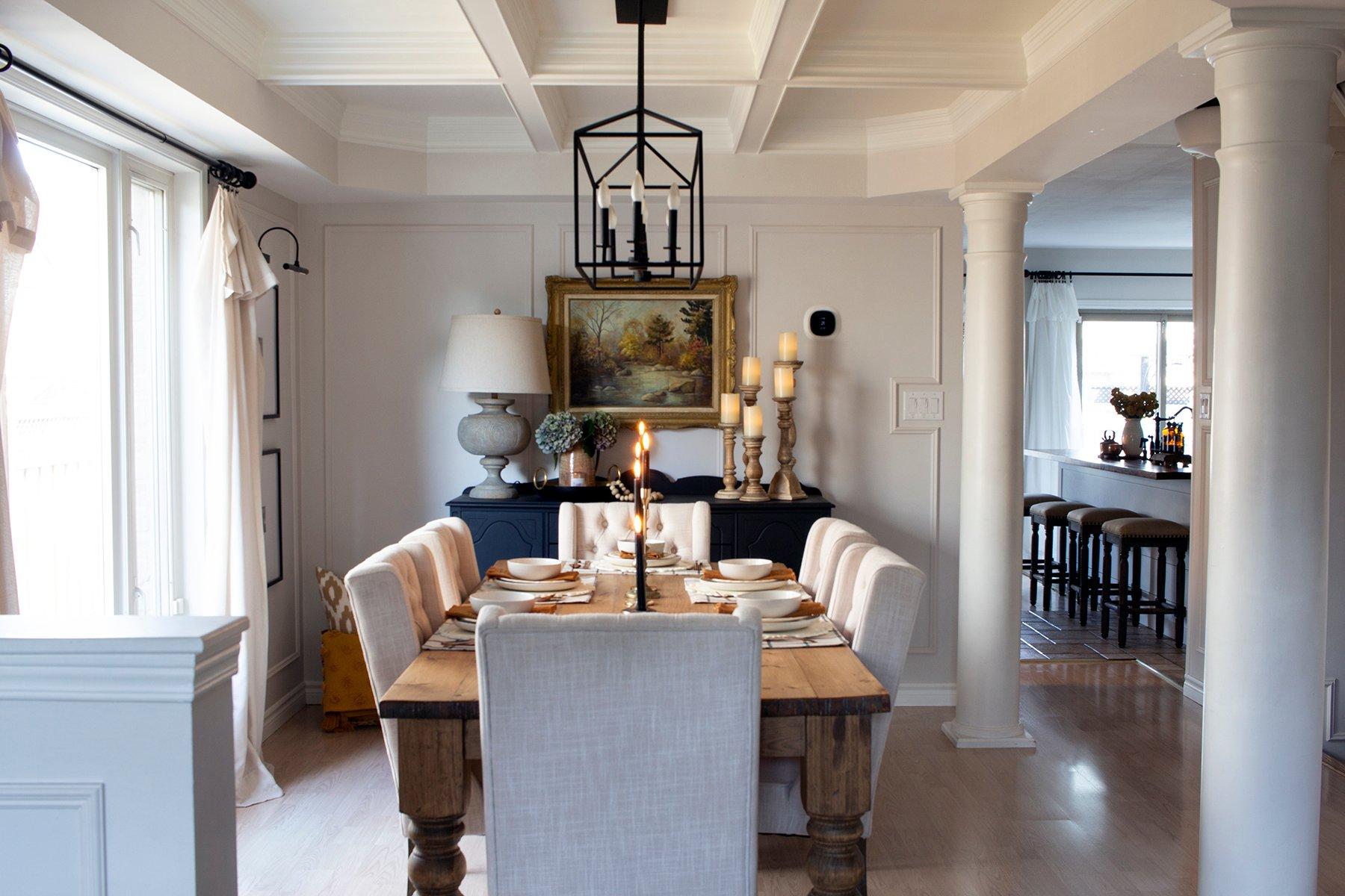 cozy warm dining room