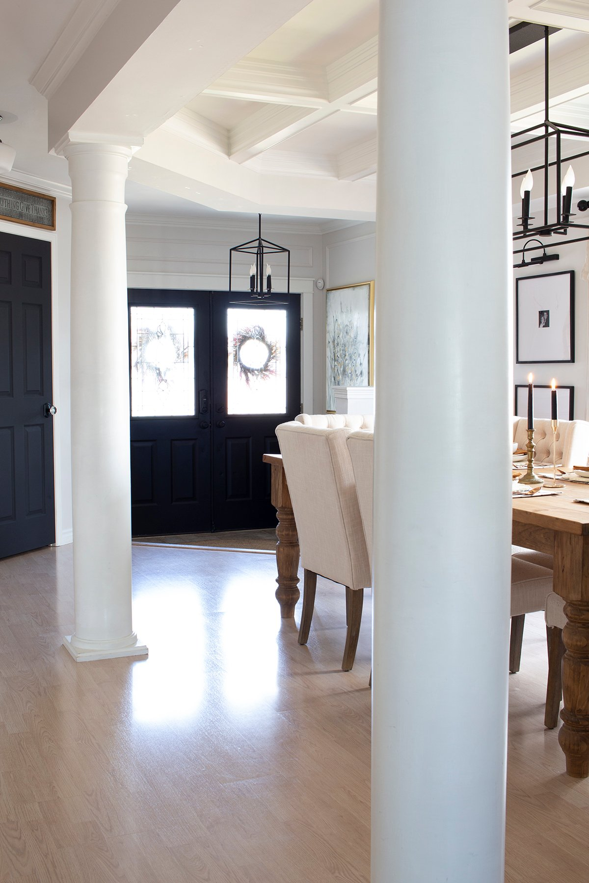 dining room to entry