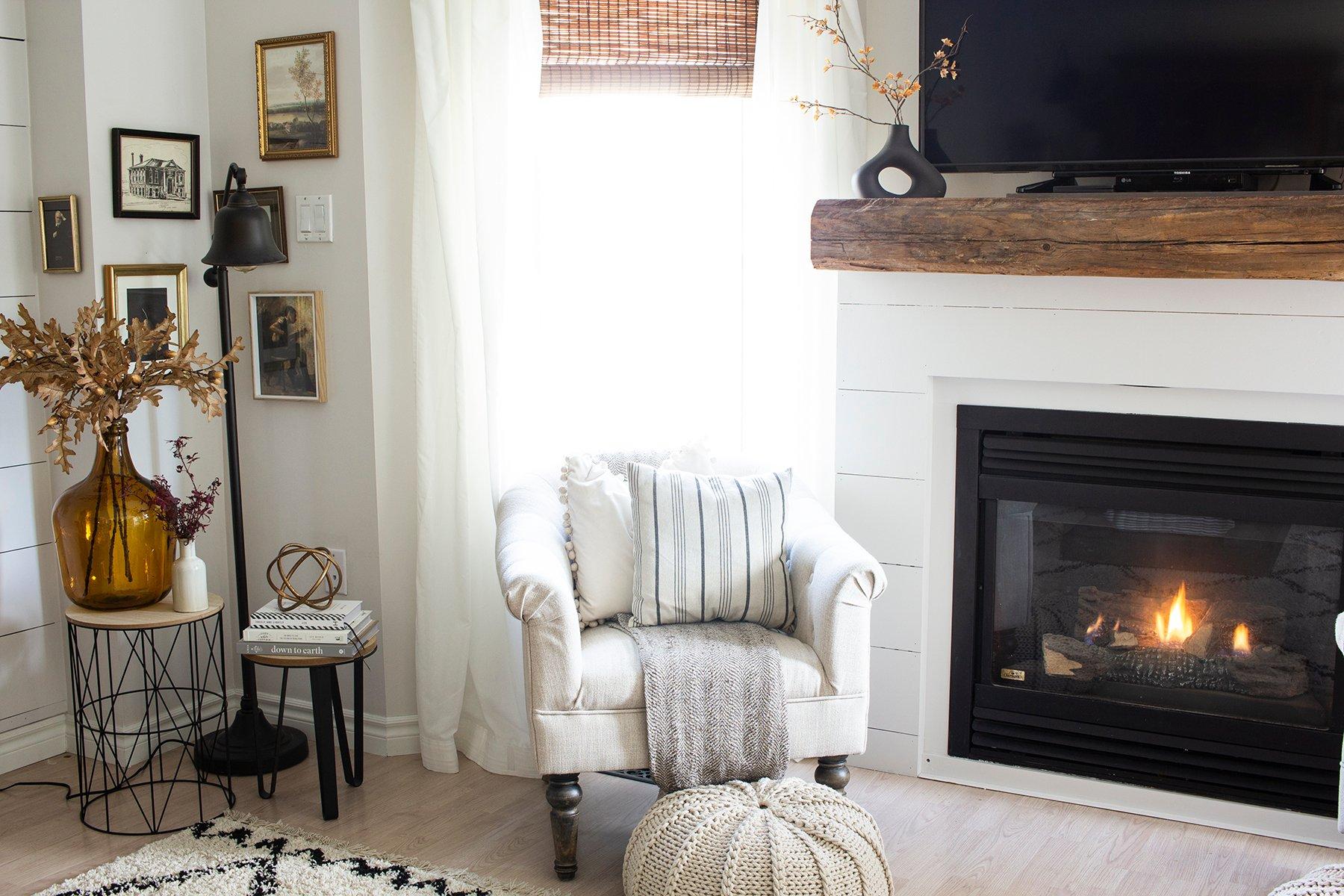 fireplace cozy corner