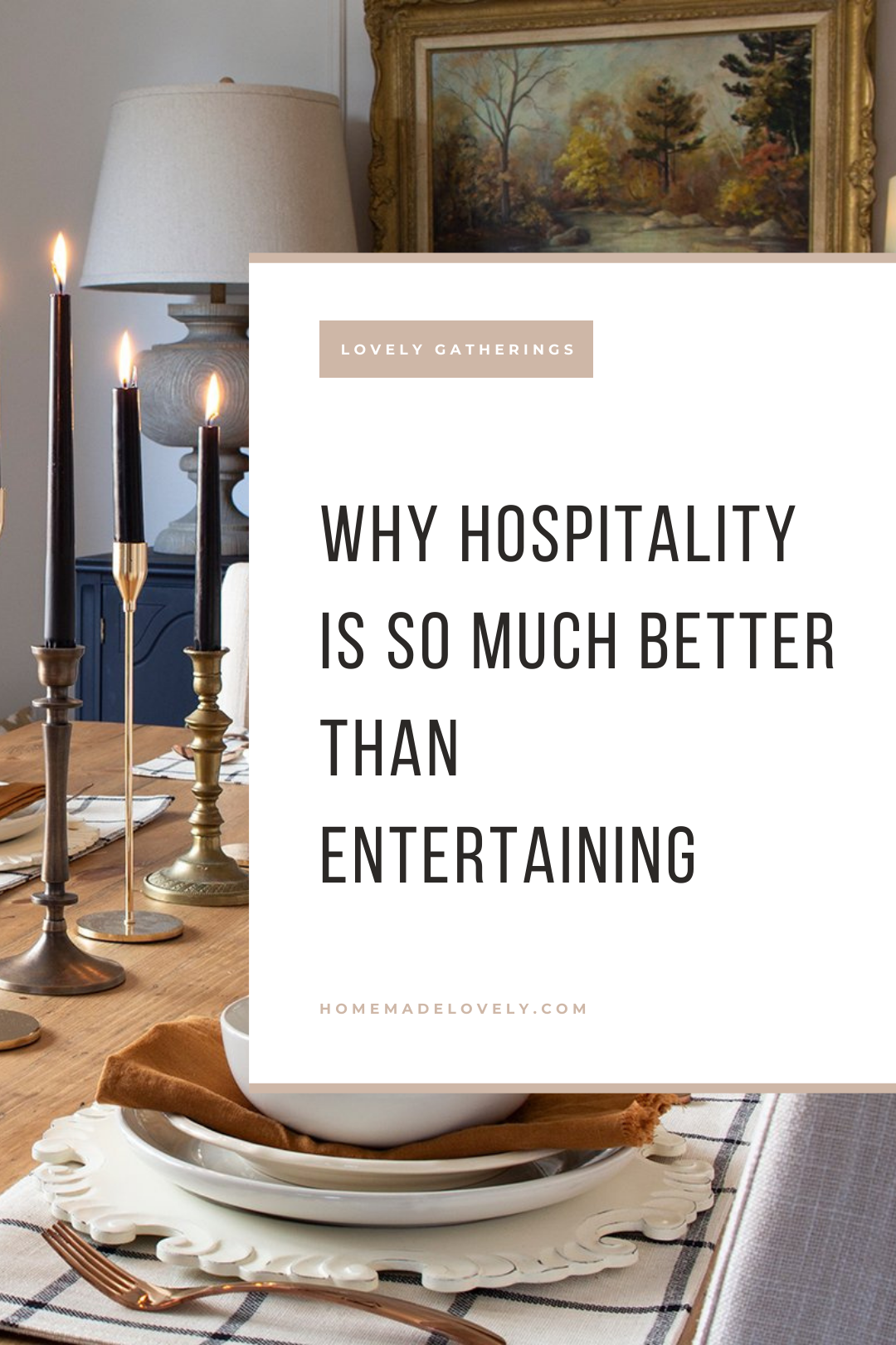 Hospitality versus Entertaining pin 1